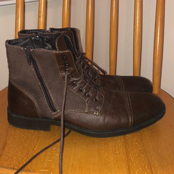 7584ae2a143 Men s Brown Leather Boots size 10.5. M 5c32b69545c8b37a2be5d60d